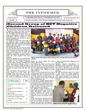 WHPHA News November-December 2013 issue