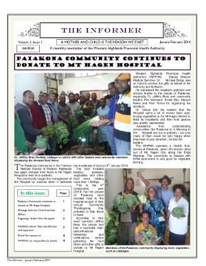WHPHA News January-February 2014 issue