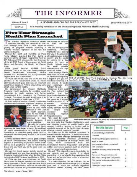 WHPHA News January-February 2019 issue