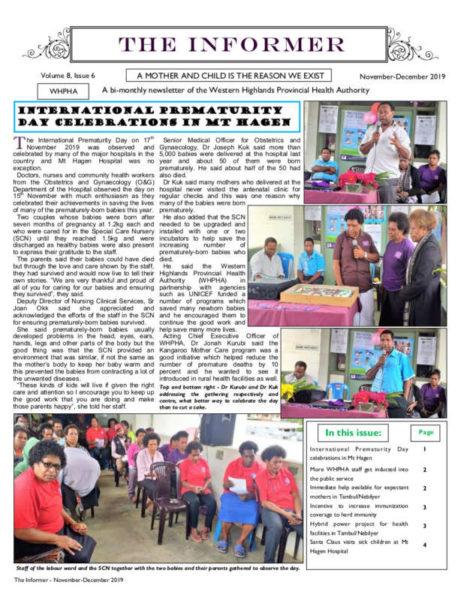 WHPHA News November-December 2019 issue