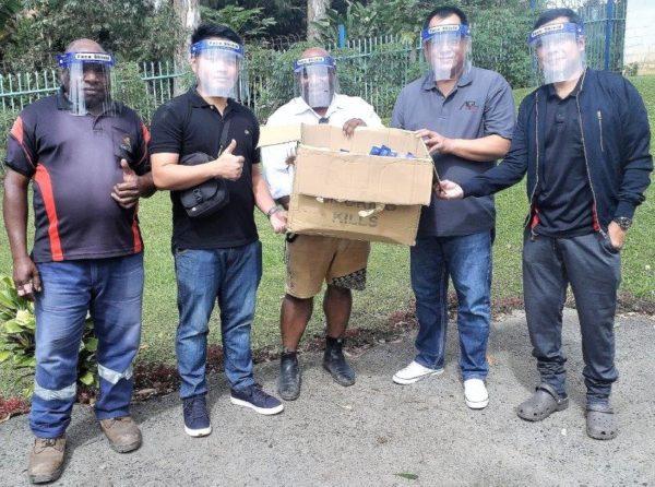 Filipino Community in Hagen donates face shields