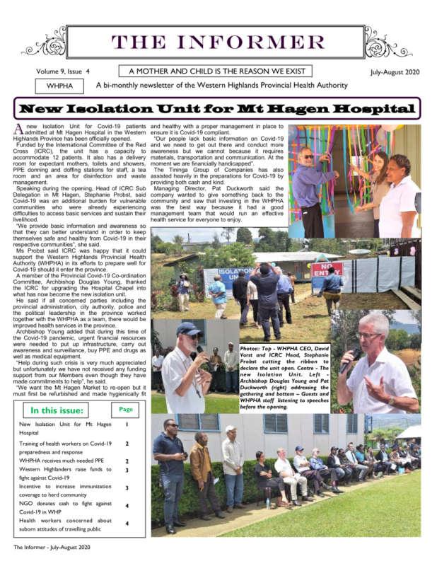 WHPHA News September-October 2020 issue
