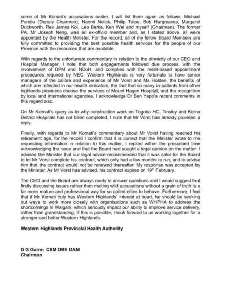 WHPHA response to Samson Komati WhatsApp nonsense (page 3)